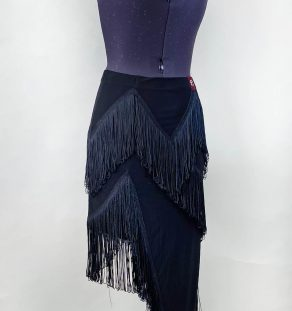 TK-BAJ12-MTDW-Black-Fringes-Skirt (2)